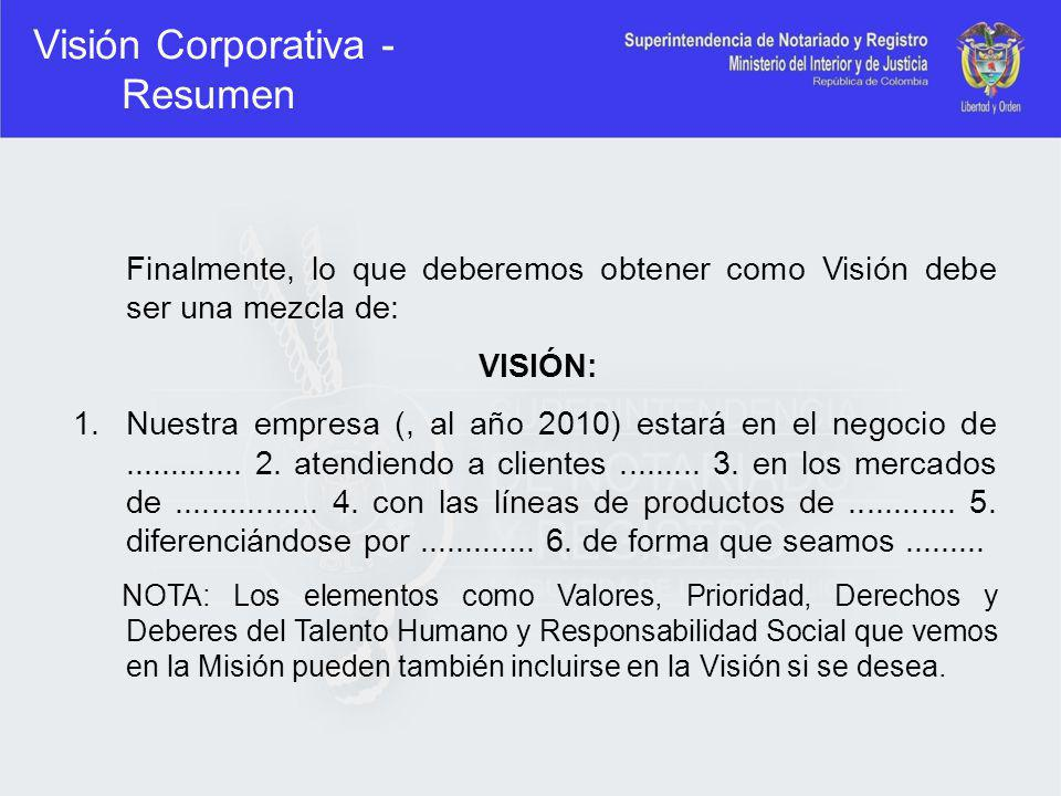 Visión Corporativa - Resumen
