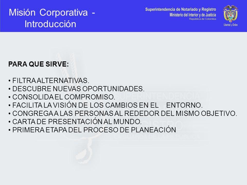 Misión Corporativa - Introducción