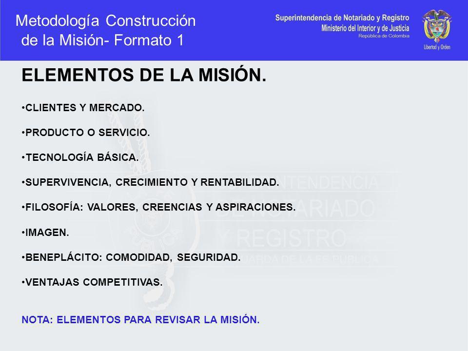 Metodología Construcción de la Misión- Formato 1