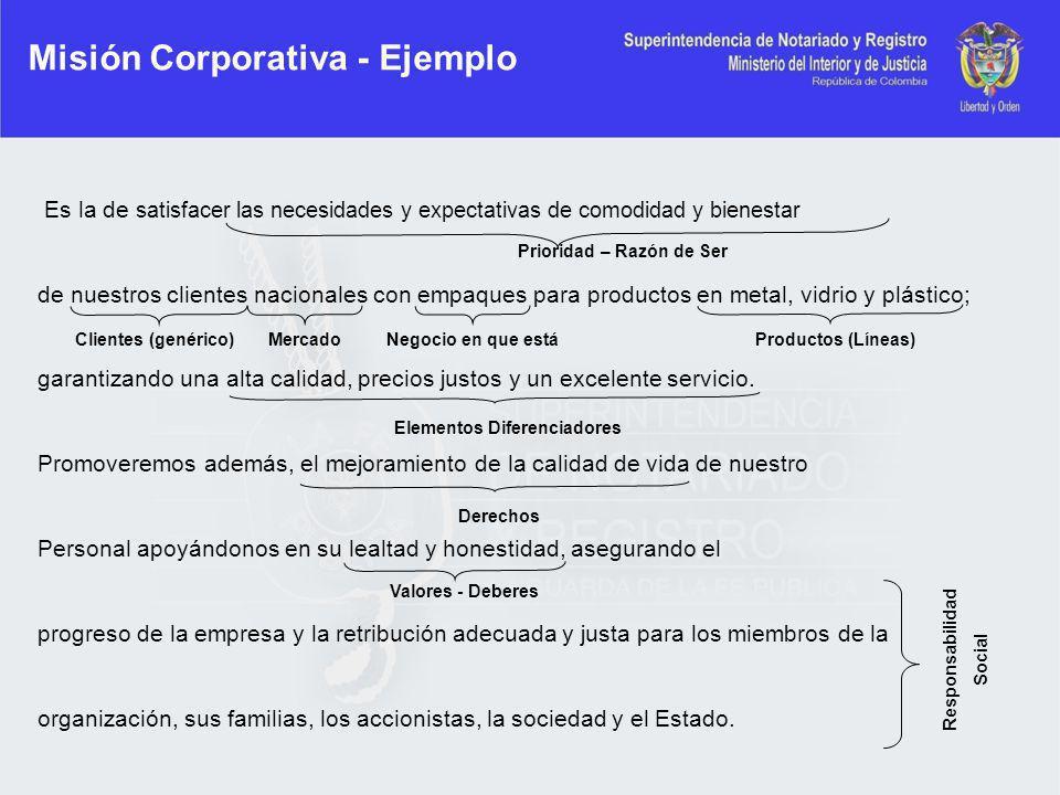 Misión Corporativa - Ejemplo