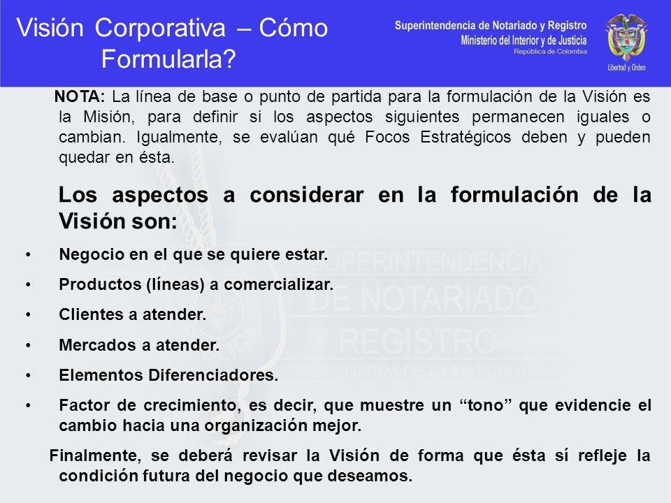 Visión Corporativa – Cómo Formularla