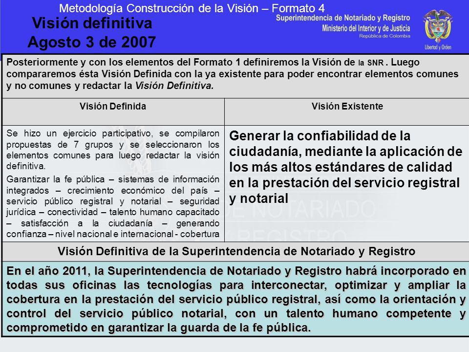 Visión Definitiva de la Superintendencia de Notariado y Registro