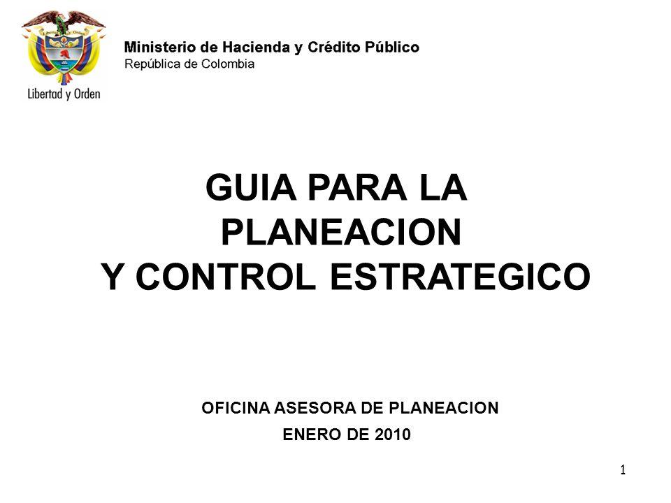 GUIA PARA LA PLANEACION Y CONTROL ESTRATEGICO