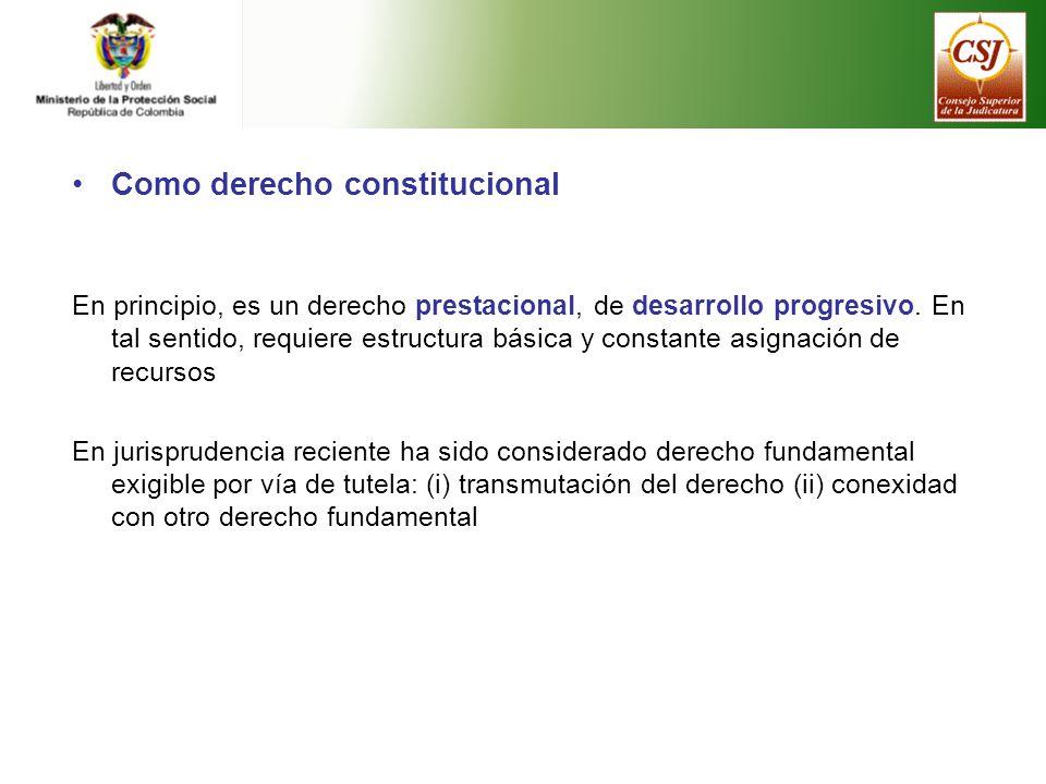 Como derecho constitucional