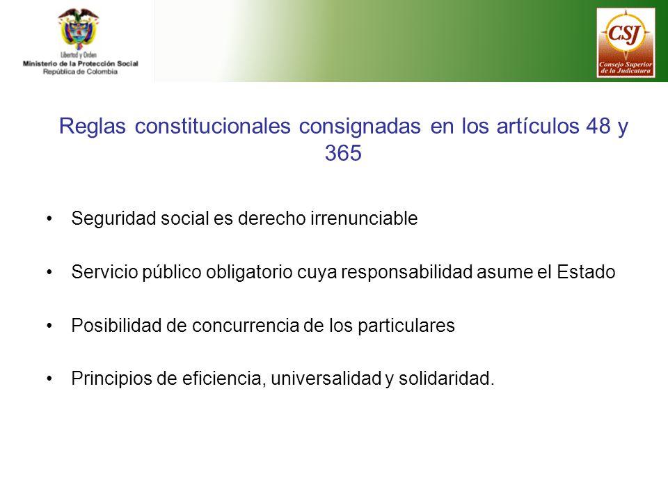Reglas constitucionales consignadas en los artículos 48 y 365