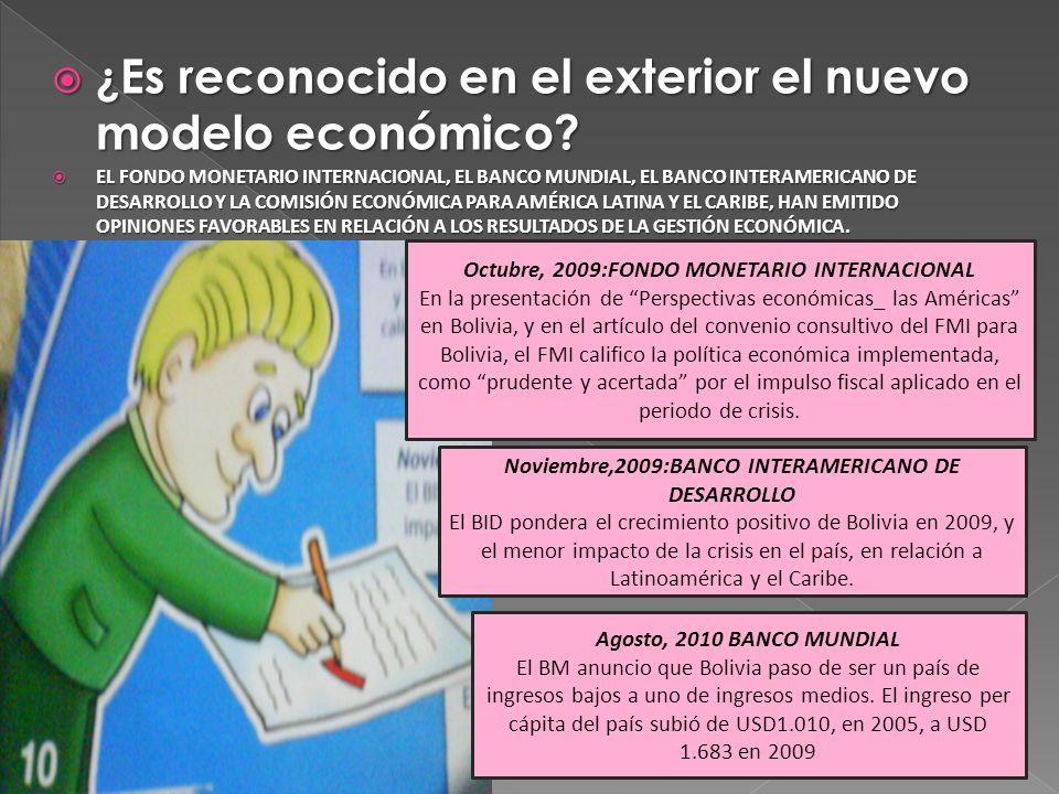 ¿Es reconocido en el exterior el nuevo modelo económico