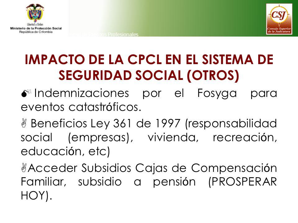 IMPACTO DE LA CPCL EN EL SISTEMA DE SEGURIDAD SOCIAL (OTROS)