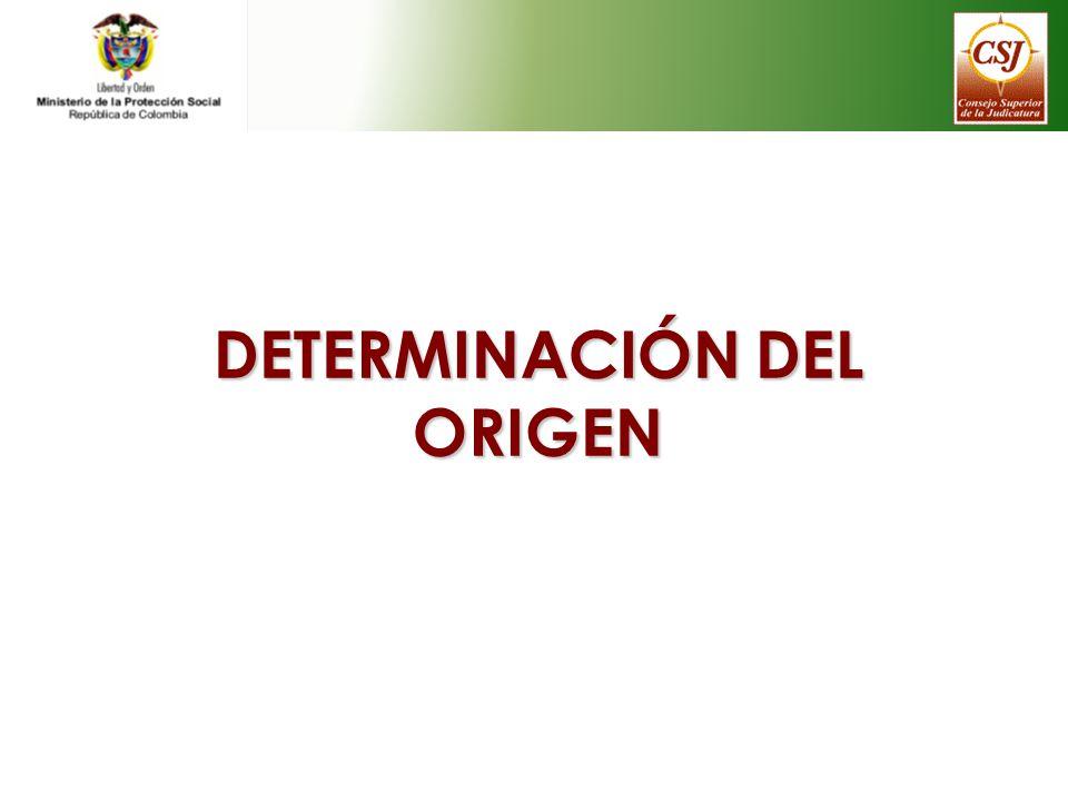DETERMINACIÓN DEL ORIGEN