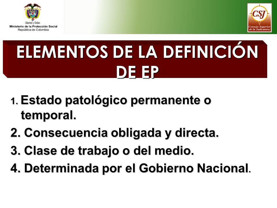ELEMENTOS DE LA DEFINICIÓN DE EP