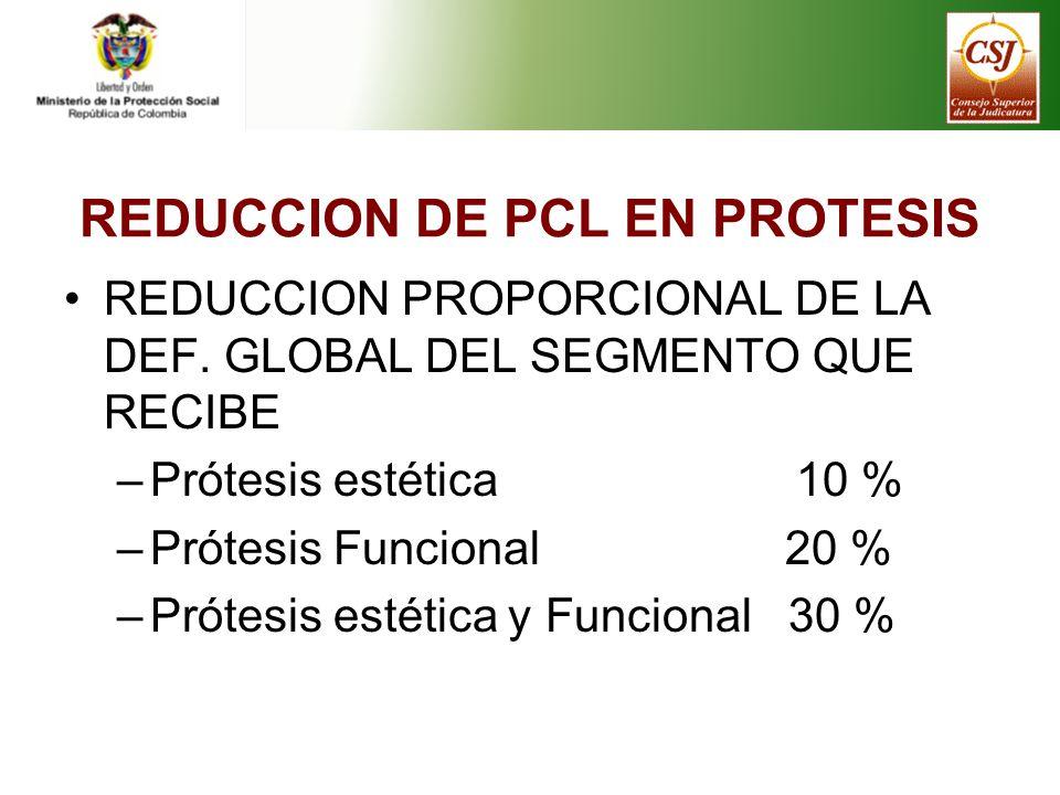 REDUCCION DE PCL EN PROTESIS