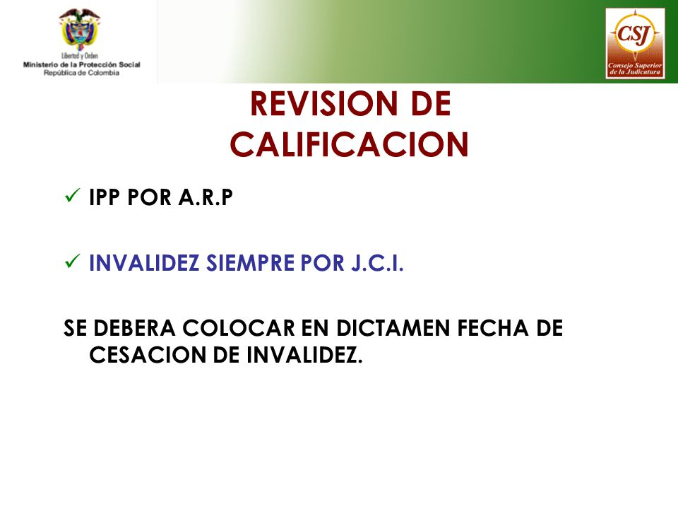REVISION DE CALIFICACION