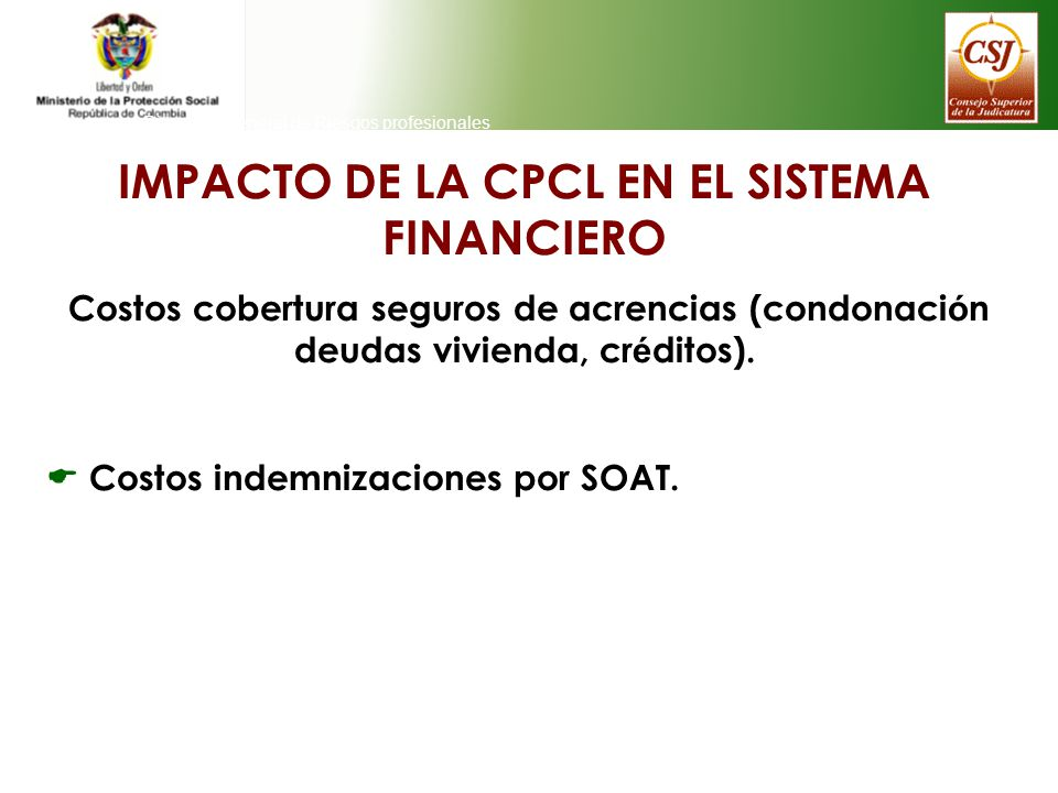 IMPACTO DE LA CPCL EN EL SISTEMA FINANCIERO