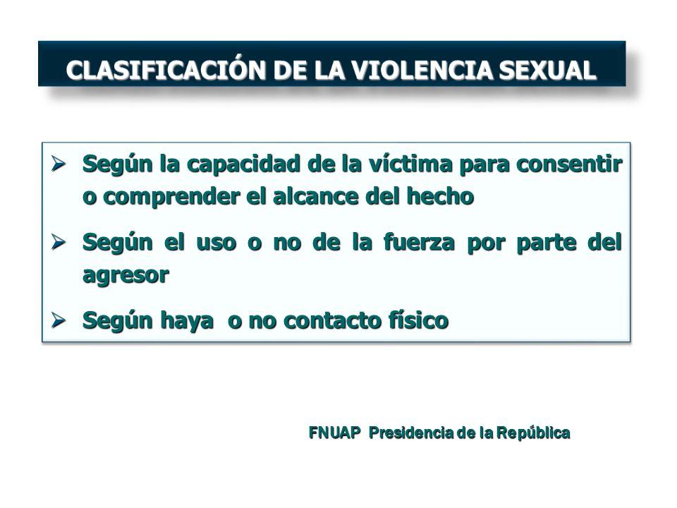 CLASIFICACIÓN DE LA VIOLENCIA SEXUAL