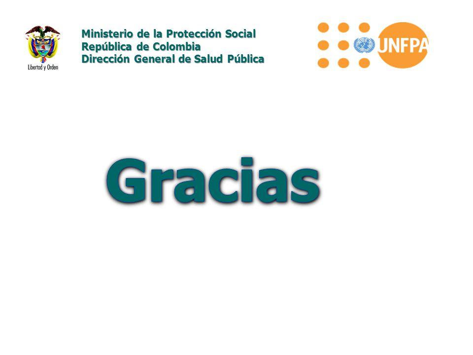 Gracias Ministerio de la Protección Social República de Colombia