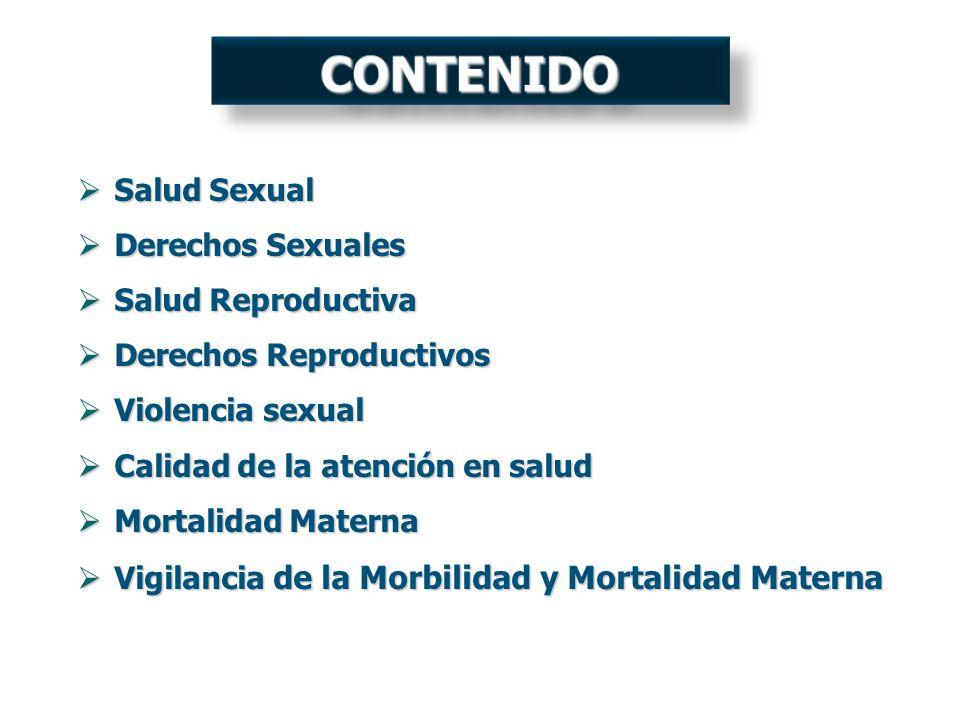 CONTENIDO Salud Sexual Derechos Sexuales Salud Reproductiva
