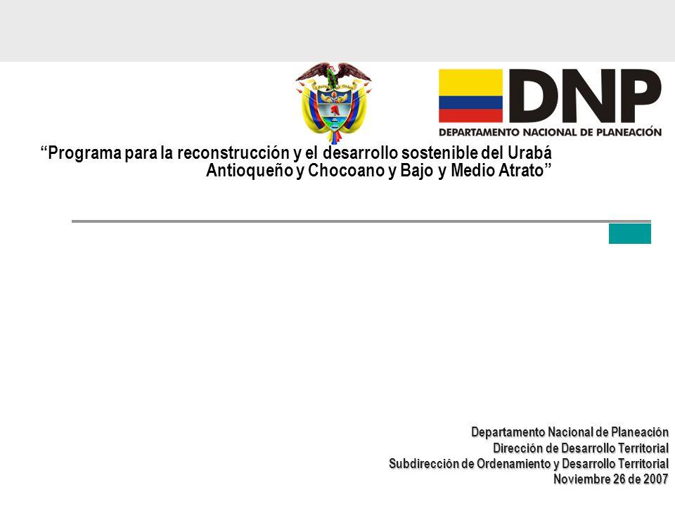 Programa para la reconstrucción y el desarrollo sostenible del Urabá Antioqueño y Chocoano y Bajo y Medio Atrato