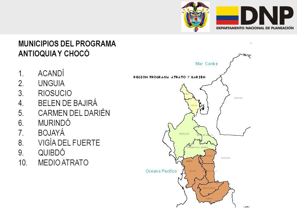 MUNICIPIOS DEL PROGRAMA