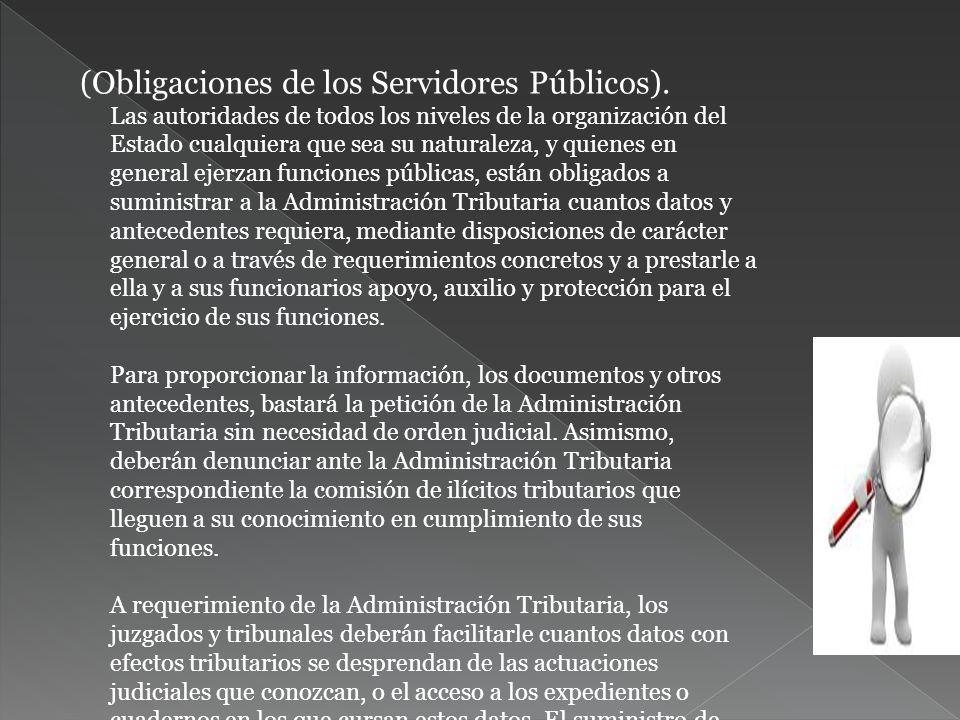 (Obligaciones de los Servidores Públicos)