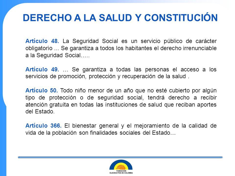 DERECHO A LA SALUD Y CONSTITUCIÓN