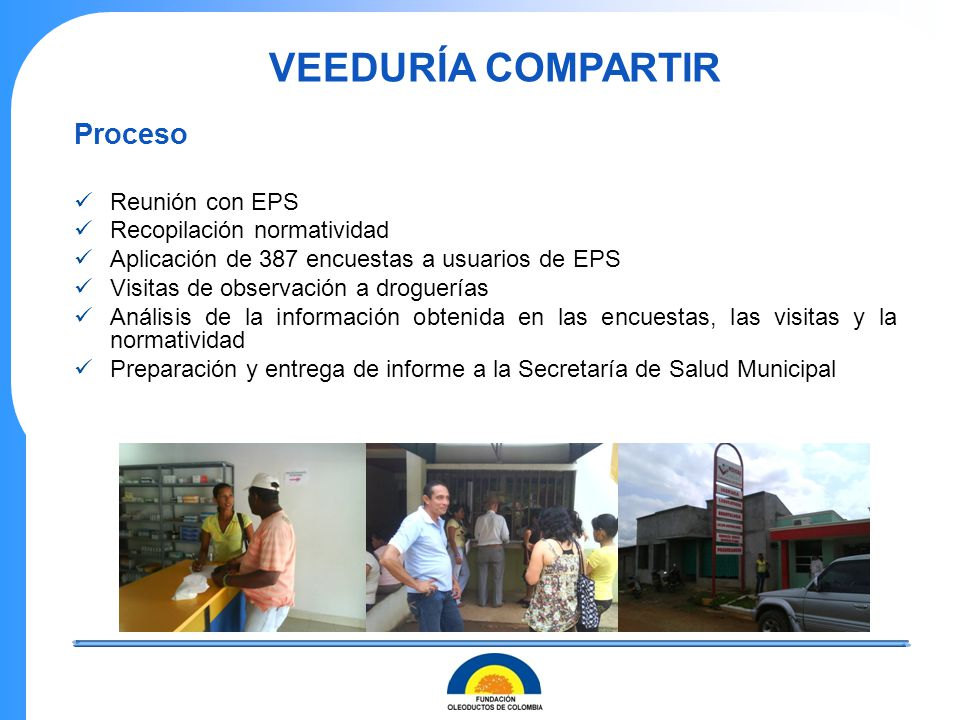 VEEDURÍA COMPARTIR Proceso Reunión con EPS Recopilación normatividad