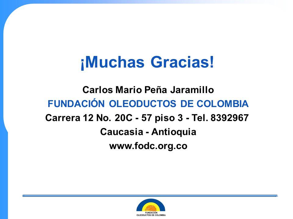 Carlos Mario Peña Jaramillo FUNDACIÓN OLEODUCTOS DE COLOMBIA