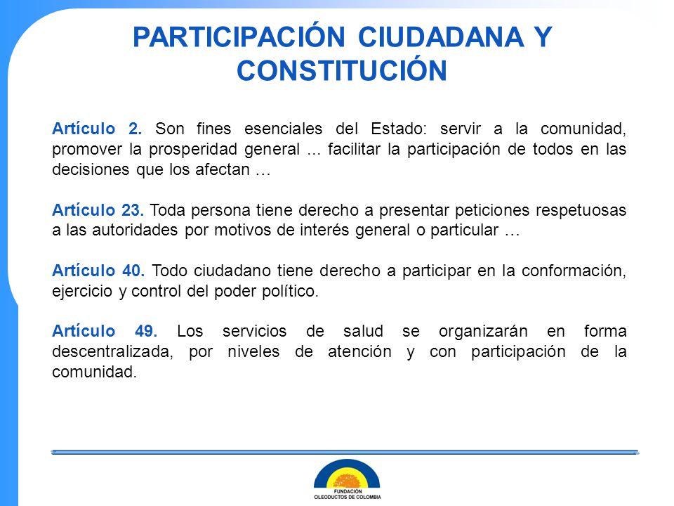 PARTICIPACIÓN CIUDADANA Y CONSTITUCIÓN