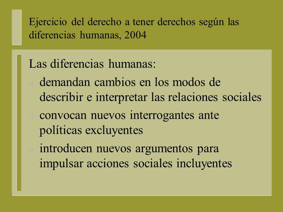 Las diferencias humanas: