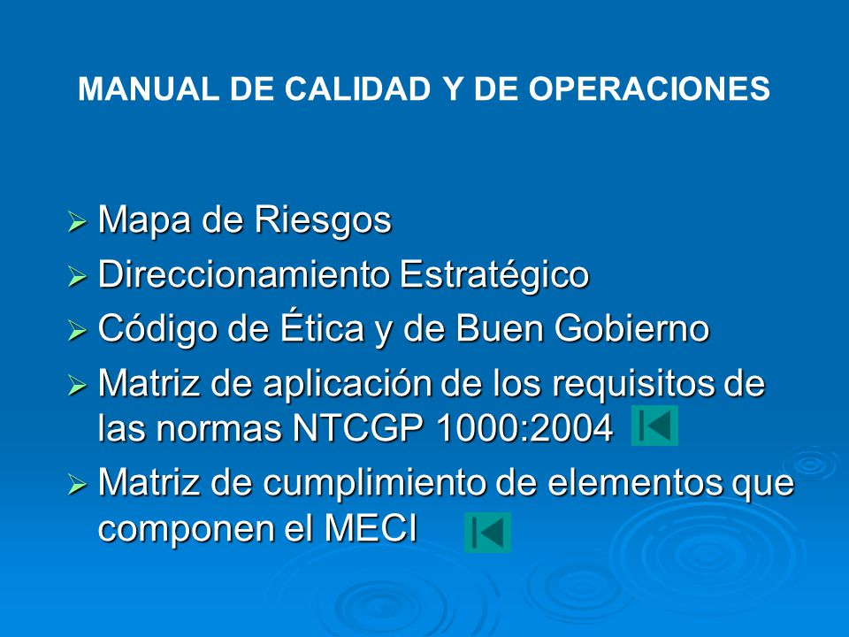 MANUAL DE CALIDAD Y DE OPERACIONES