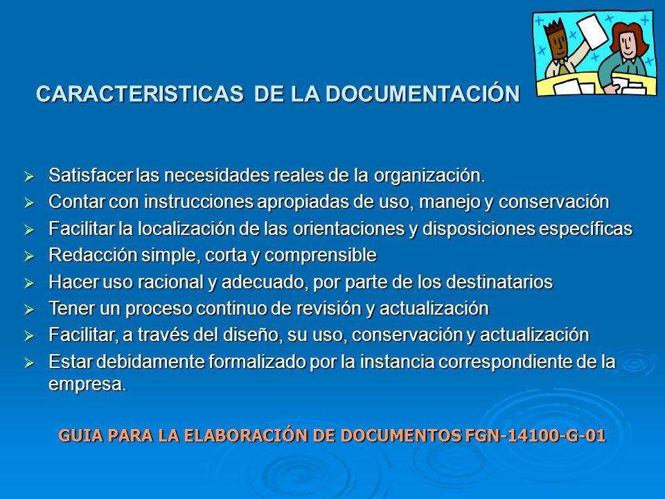 GUIA PARA LA ELABORACIÓN DE DOCUMENTOS FGN-14100-G-01