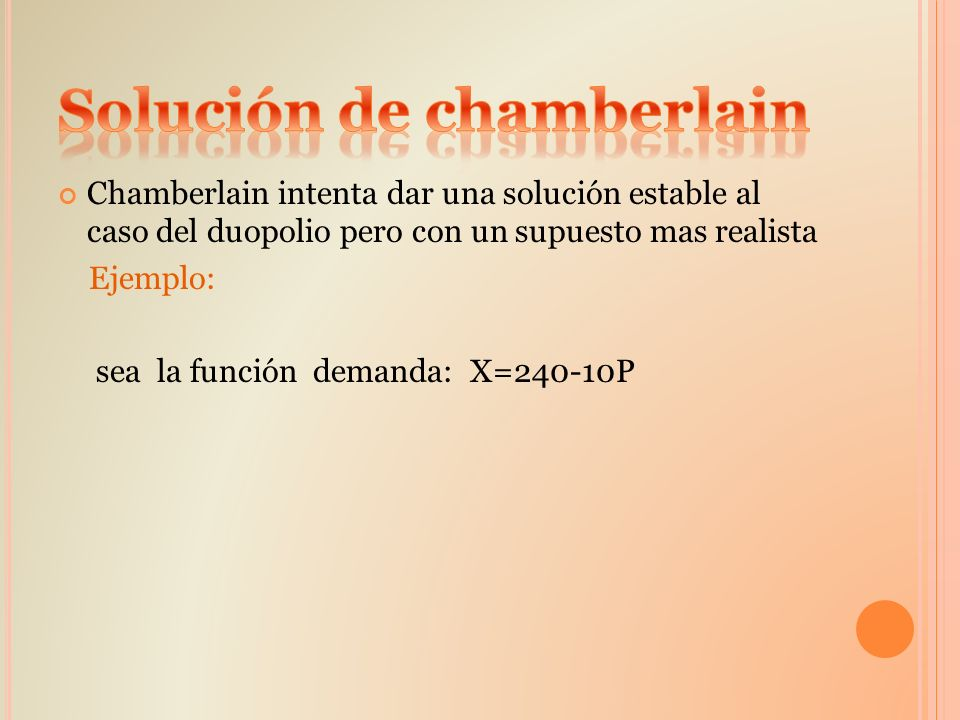 Solución de chamberlain