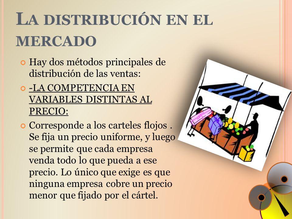 La distribución en el mercado