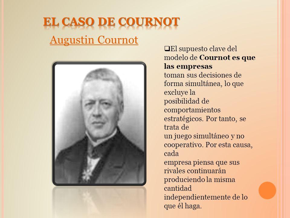EL CASO DE COURNOT Augustin Cournot
