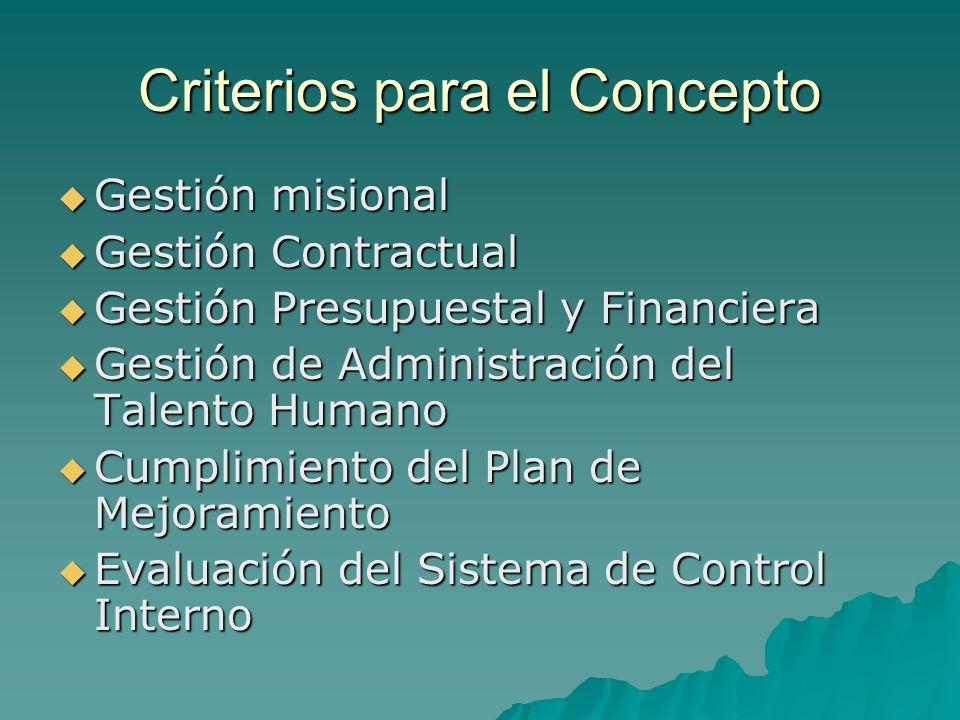 Criterios para el Concepto