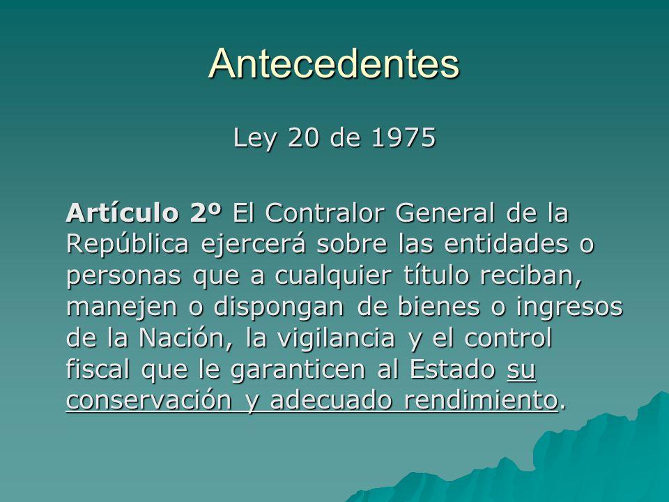 Antecedentes Ley 20 de 1975.