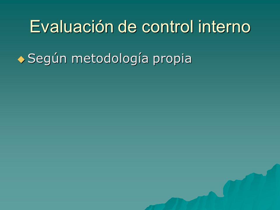 Evaluación de control interno