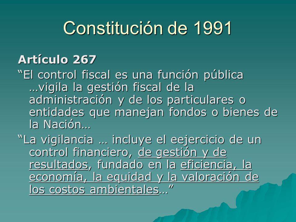 Constitución de 1991 Artículo 267