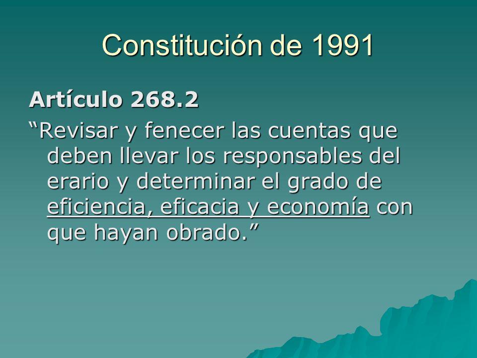 Constitución de 1991 Artículo 268.2