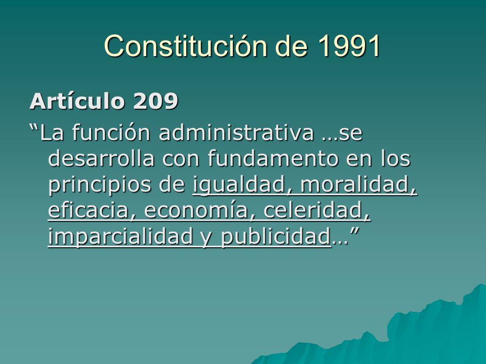 Constitución de 1991 Artículo 209