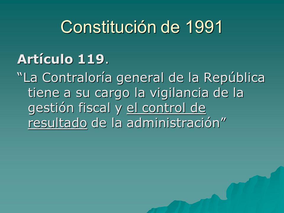 Constitución de 1991 Artículo 119.