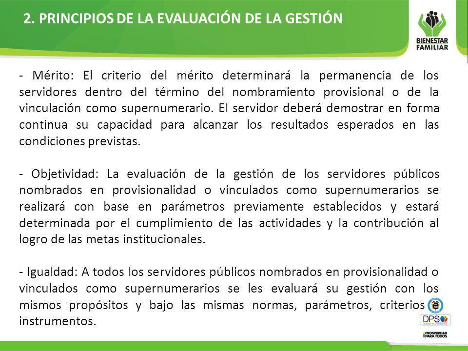 2. PRINCIPIOS DE LA EVALUACIÓN DE LA GESTIÓN