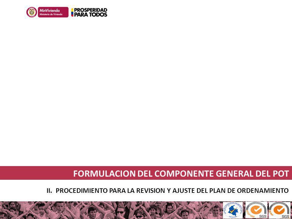 FORMULACION DEL COMPONENTE GENERAL DEL POT