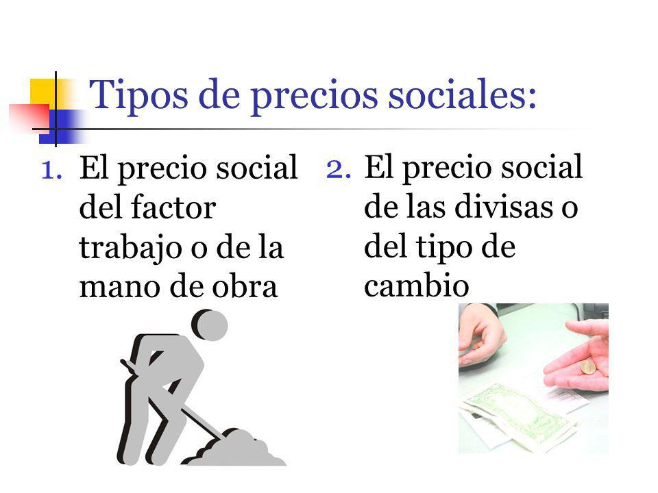 Tipos de precios sociales: