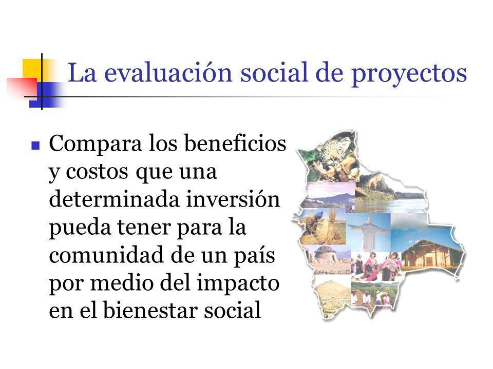 La evaluación social de proyectos