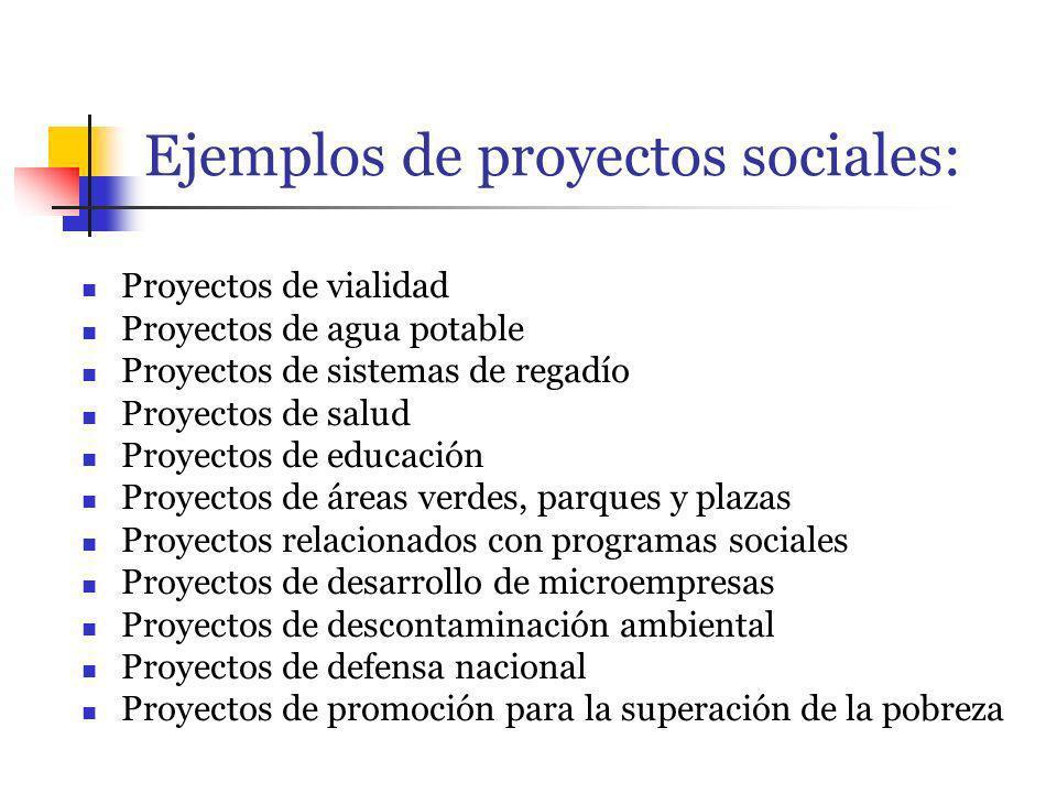 Ejemplos de proyectos sociales: