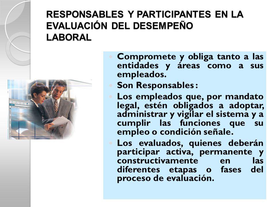 RESPONSABLES Y PARTICIPANTES EN LA EVALUACIÓN DEL DESEMPEÑO LABORAL