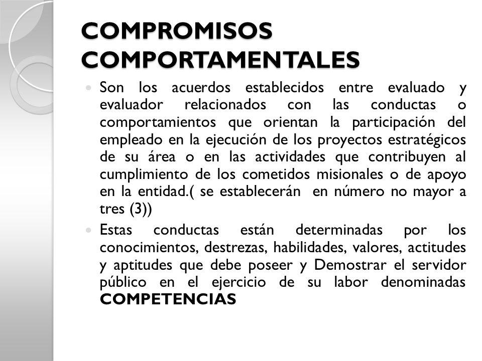 COMPROMISOS COMPORTAMENTALES