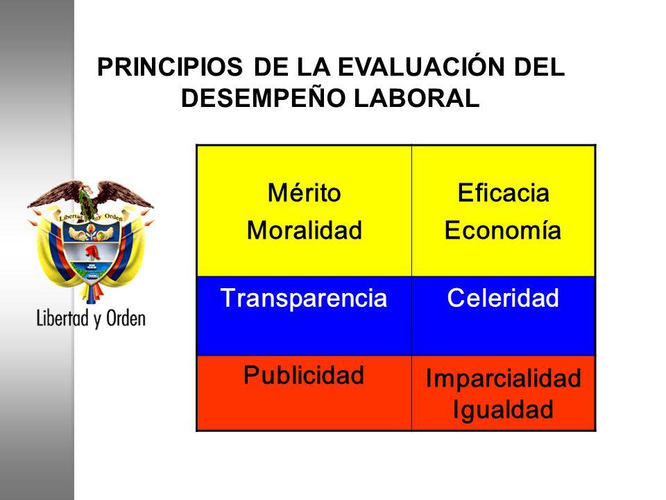 PRINCIPIOS DE LA EVALUACIÓN DEL DESEMPEÑO LABORAL
