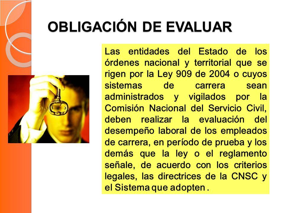 OBLIGACIÓN DE EVALUAR