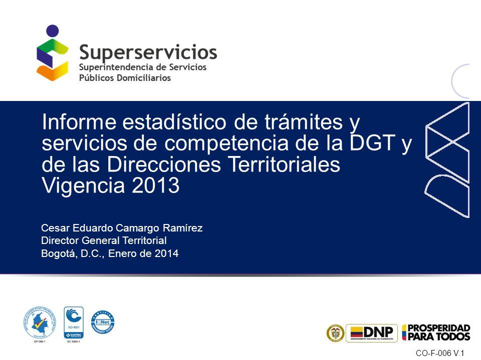 Informe estadístico de trámites y servicios de competencia de la DGT y de las Direcciones Territoriales