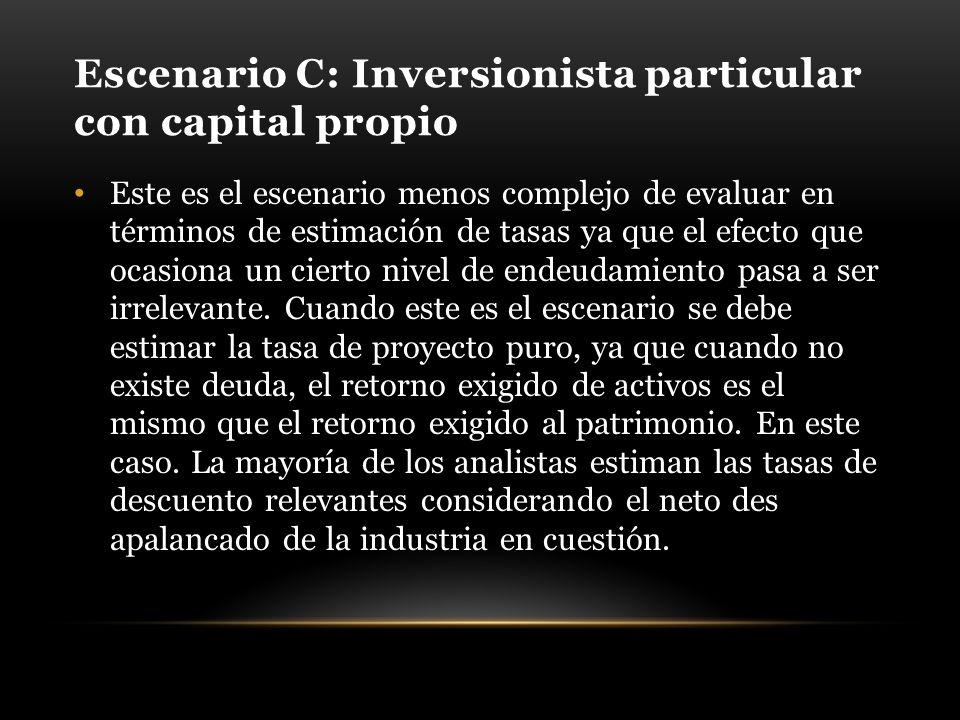 Escenario C: Inversionista particular con capital propio
